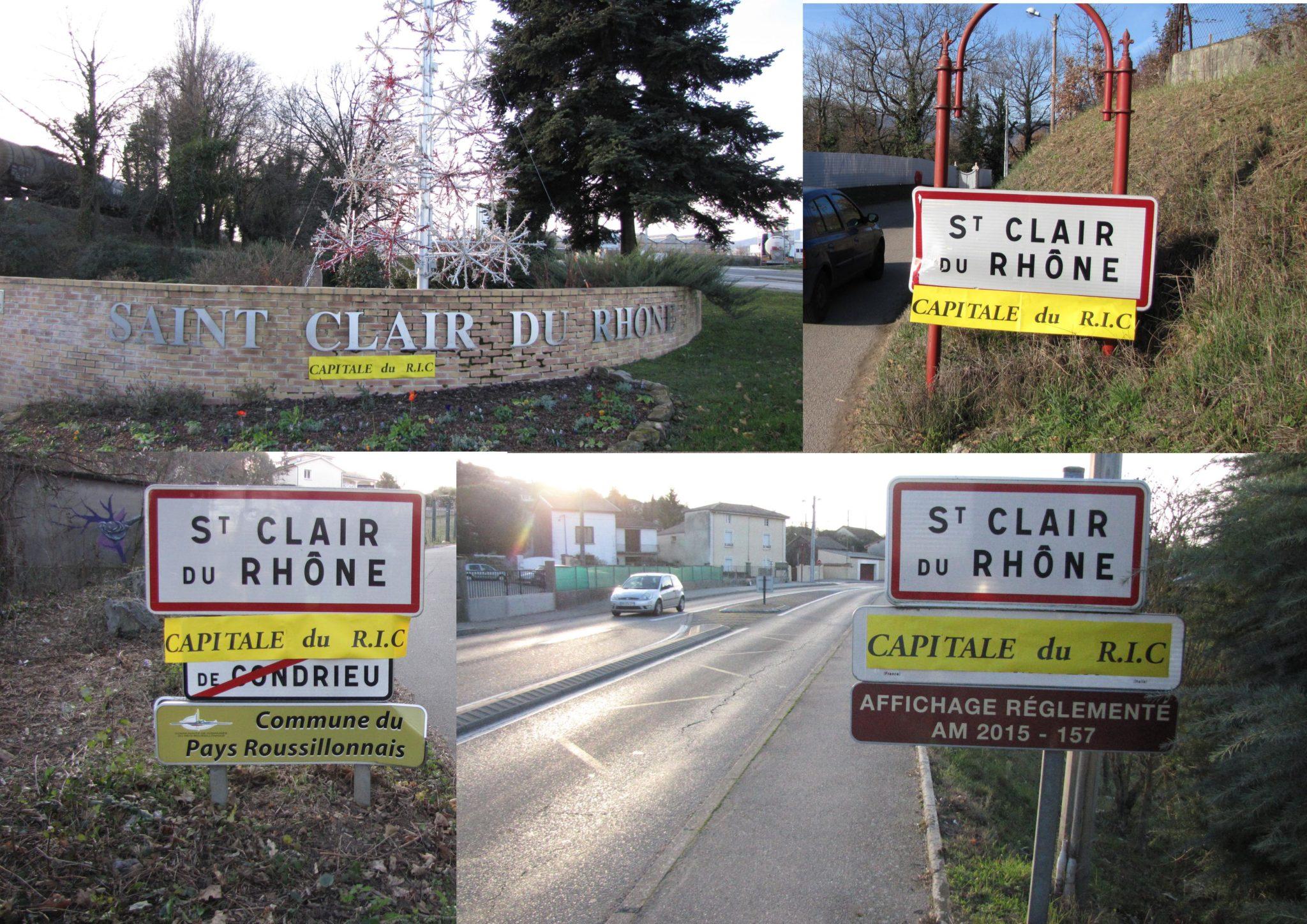 Résultats : St Clair du Rhône = 1  Emmanuel Macron = 0
