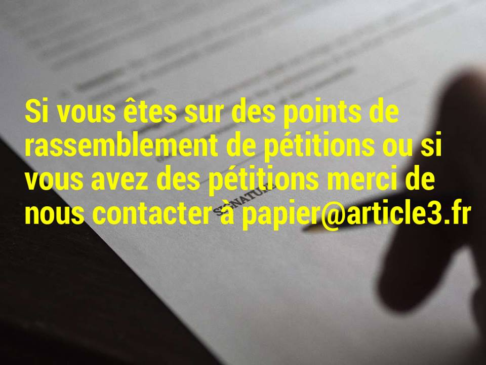 Pétition papier