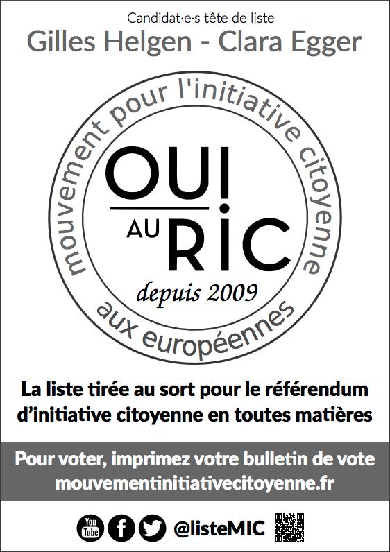 OUI au RIC depuis 2009